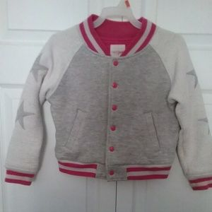 Youth girls gray and white jacket size 6X